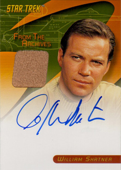 William Shatner Autograph/Costume Card