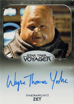 Autograph - Wayne Thomas Yorke as Zet