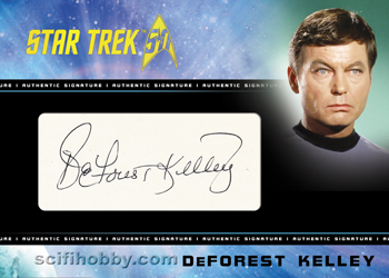 Cut Signature Card - DeForest Kelley