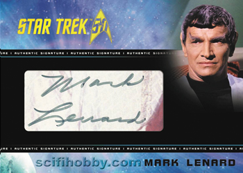 Cut Signature Card - Mark Lenard