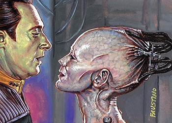 Norman Faustino Sketch - Data and Borg Queen