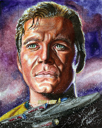 Mick and Matt Glebe AR Sketch - James T. Kirk