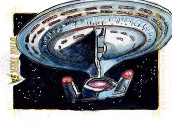 "Daniel Gorman AR Sketch - ""All Good Things"" USS Enterprise NCC-1701-D"