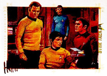 Charles Hall Sketch - Kirk, Spock, Scotty and Sulu