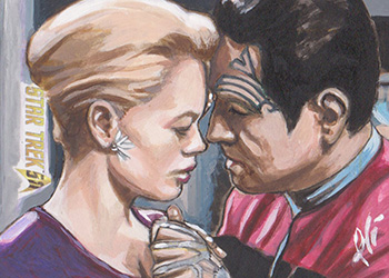 Lee Lightfoot AR Sketch - Seven of Nine and Chakotay