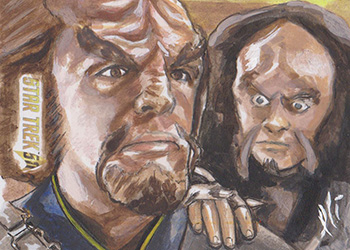 Lee Lightfoot AR Sketch - Worf and Gowron