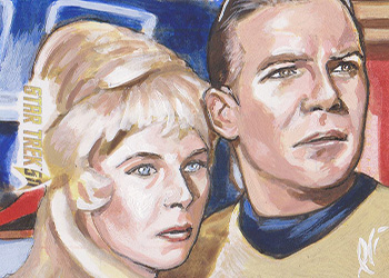 Lee Lightfoot Sketch - Janice Rand and James T. Kirk