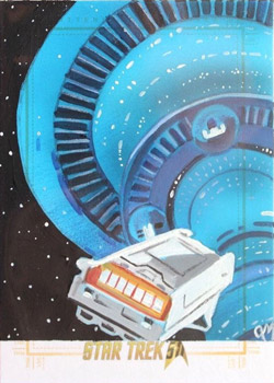 Jeff Mallinson Sketch - Executive Shuttle and Spacedock
