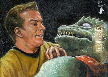 Jason Potratz AR Sketch - James T. Kirk and Gorn