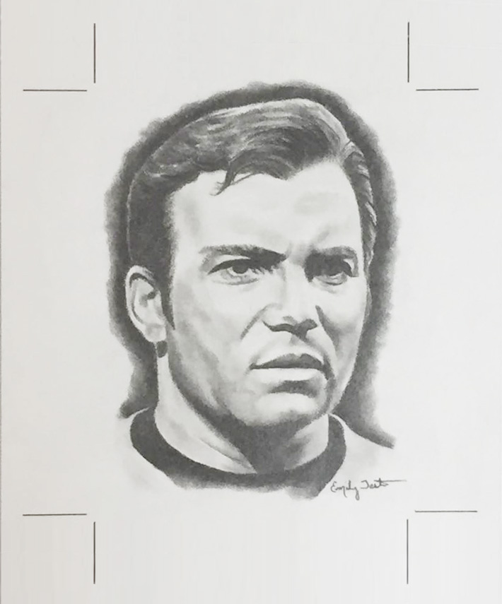 Emily Tester AR Sketch - James T. Kirk