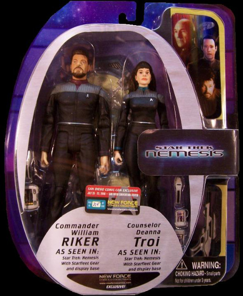 Riker & Troi 2-Pack Numbered
