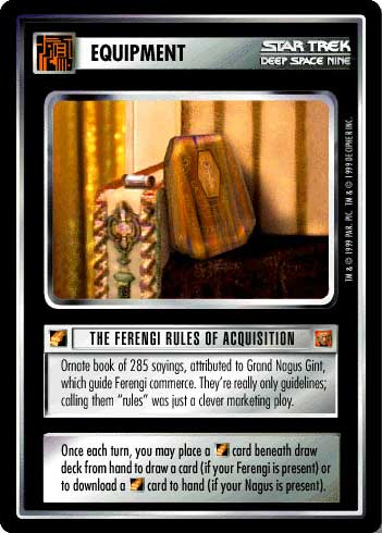 Star Trek CCG RoA Rules of Acquisition Grand Nagus Zek