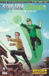 IDW Star Trek Green Lantern 1 RE BOSTON COMIC CON