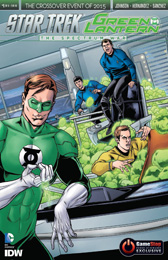 IDW Star Trek Green Lantern 1 RE GAMESTOP