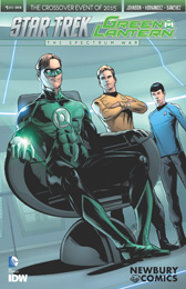 IDW Star Trek Green Lantern 1 RE NEWBURY COMICS