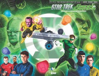 IDW Star Trek Green Lantern 1RE  Previews Wraparound