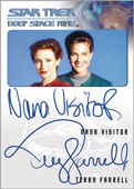 Terry Farrell and Nana Visitor Dual Autograph Card