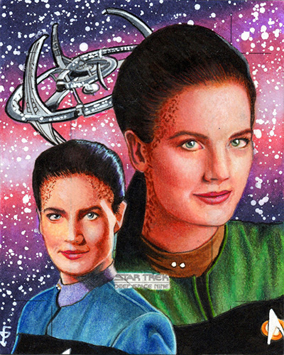 Louise Draper AR Sketch - Jadzia Dax and DS9