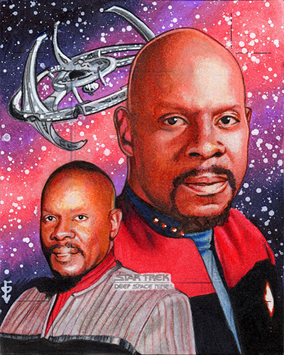 Louise Draper AR Sketch - Sisko and DS9