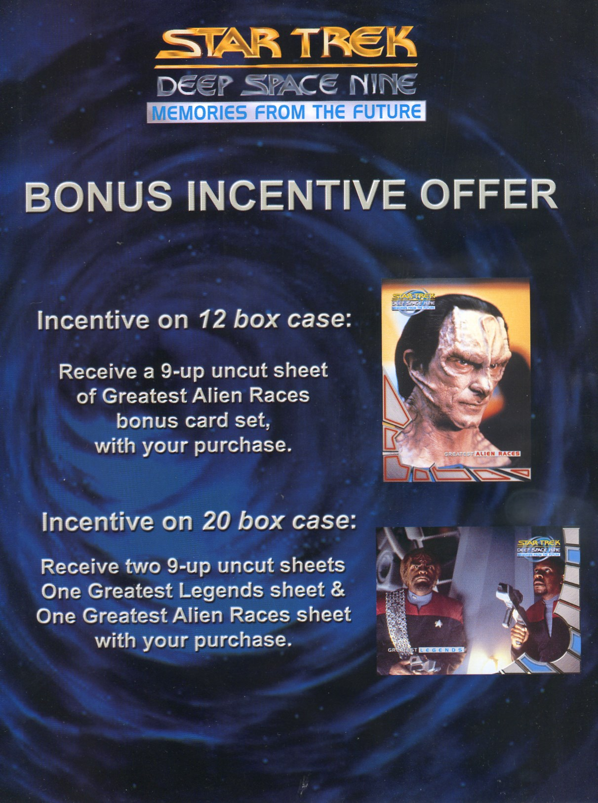 DS9 Memories from the Future Bonus Sell Sheet