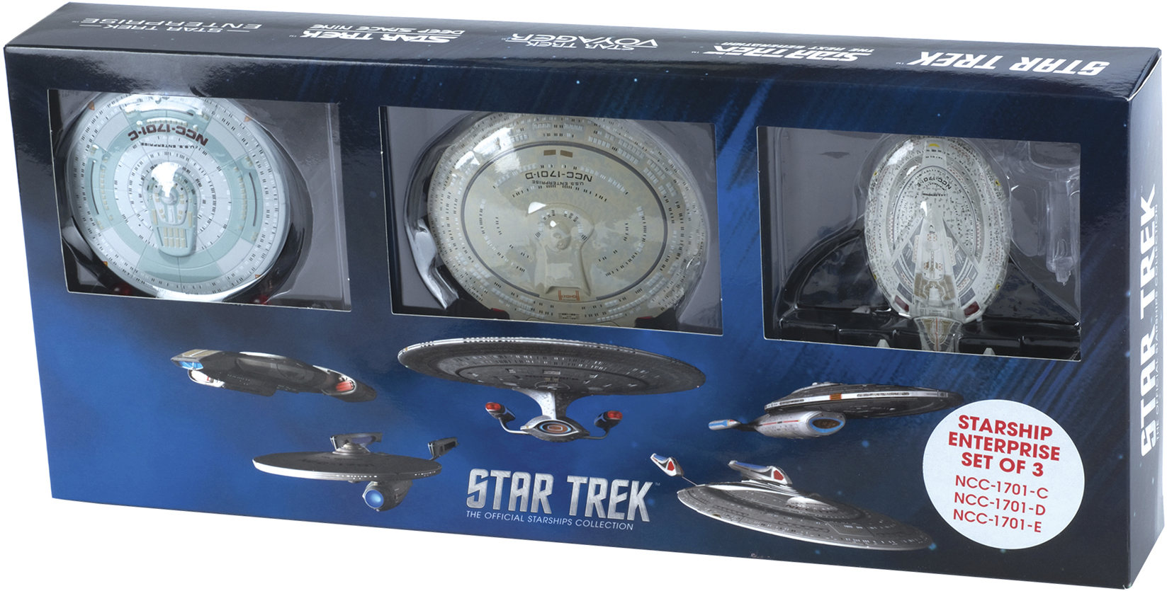 Eaglemoss Star Trek Starships Enterprise 3 Set Box