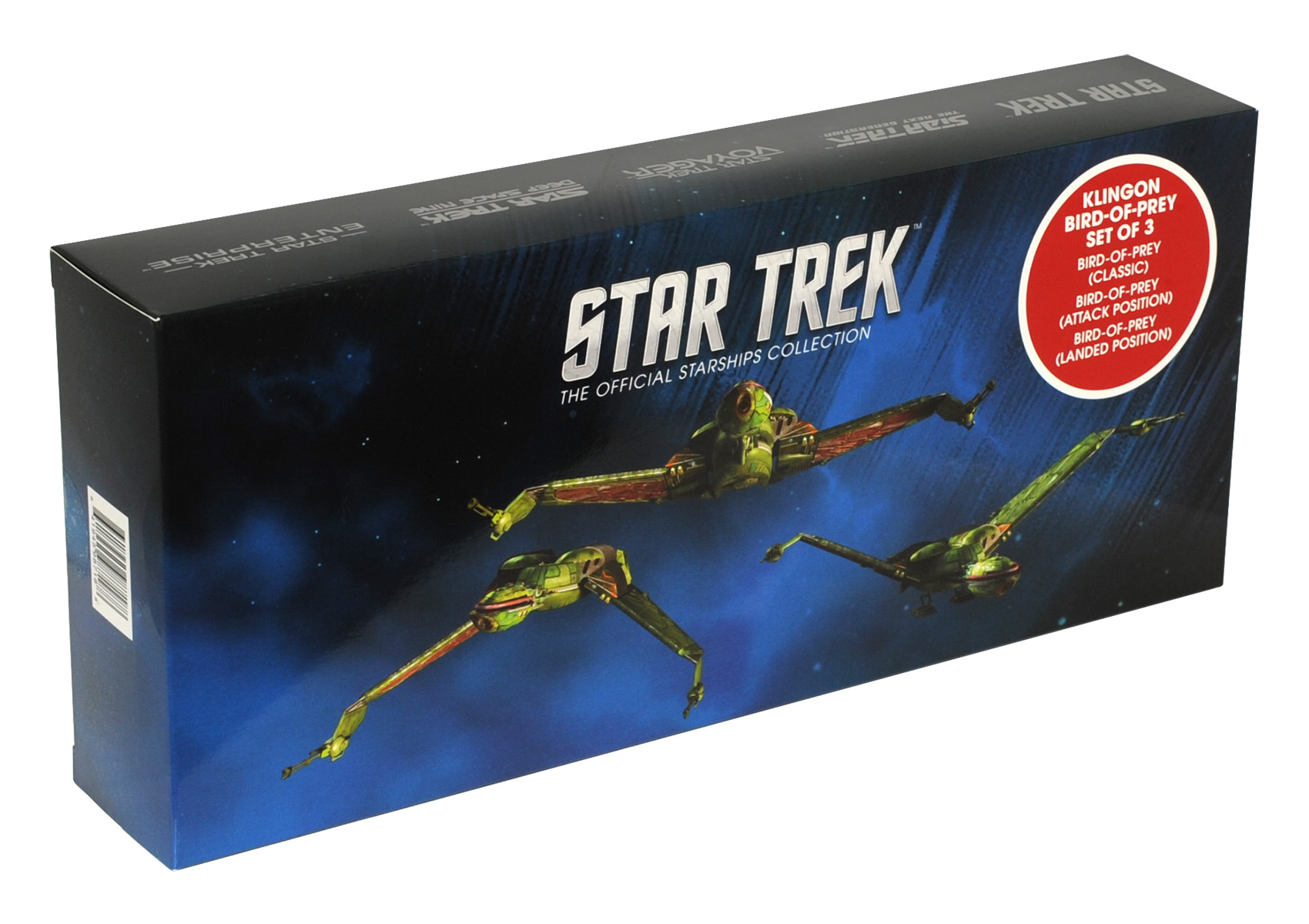 Eaglemoss Star Trek Starships Klingon Bird-of-Prey Set Box