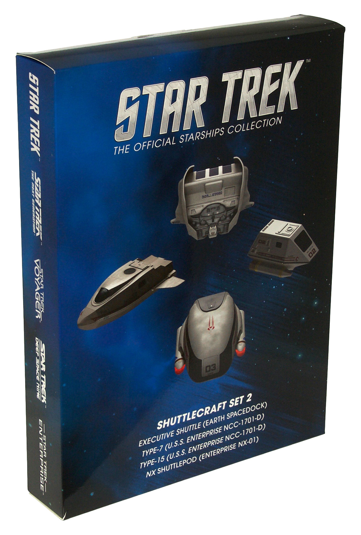 Eaglemoss Star Trek Starships Shuttle Set 2 Box