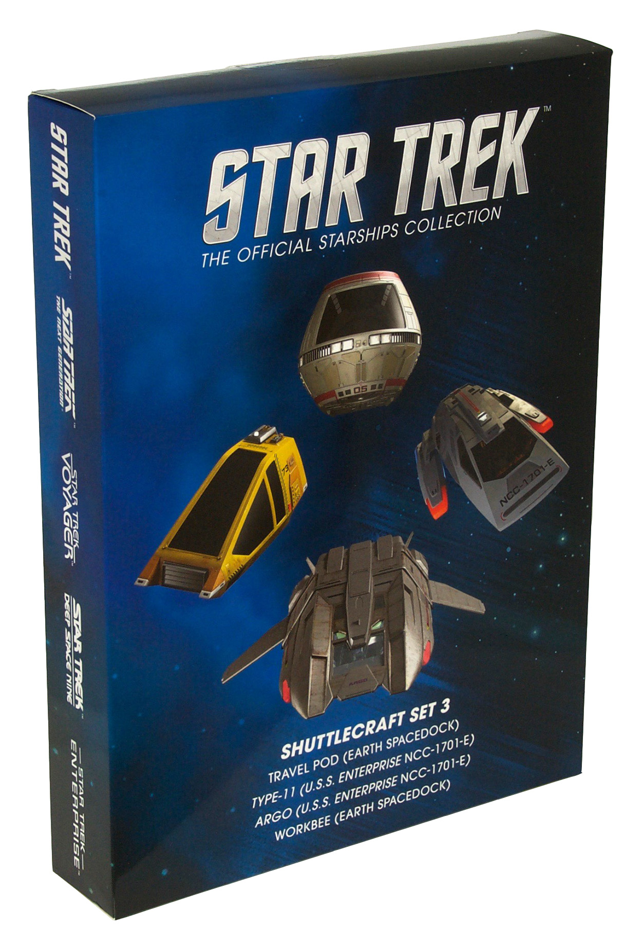 Eaglemoss Star Trek Starships Shuttle Set 3 Box