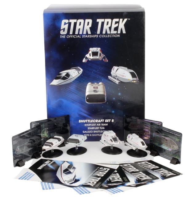 Eaglemoss Star Trek Starships Shuttle Set 5 Box