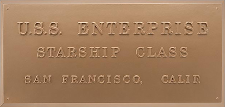 Eaglemoss U.S.S. Enterprise NCC-1701 Dedication Plaque