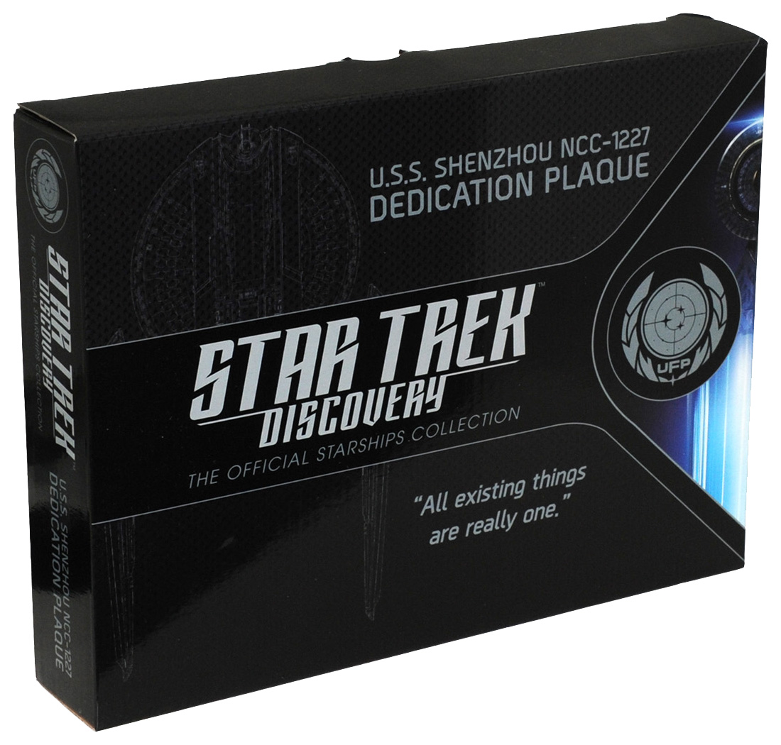 Eaglemoss U.S.S. Shenzhou NC-1227 Dedication Plaque Box