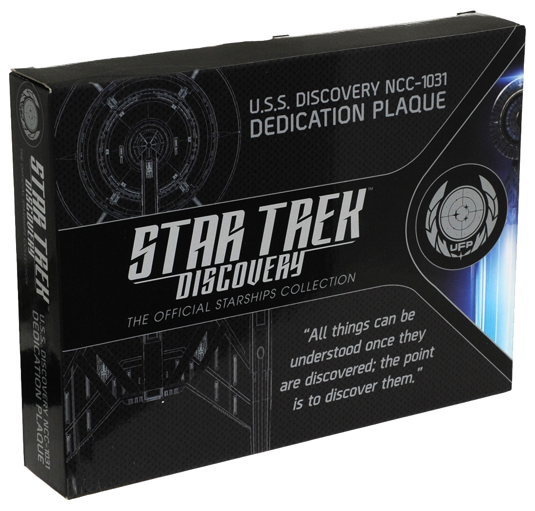 Eaglemoss U.S.S. Discovery NC-1227 Dedication Plaque Box