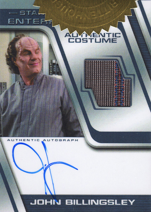 Enterprise H&V John Billingsley Autograph Costume Card