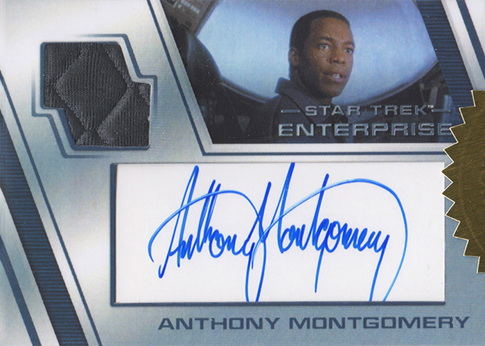 Enterprise H&V Anthony Montgomery Autograph Costume Card
