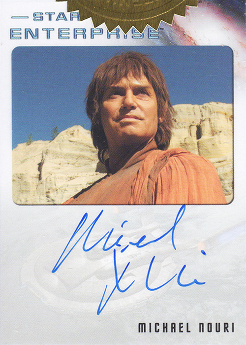 Enterprise H&V Michael Nouri Autograph Card