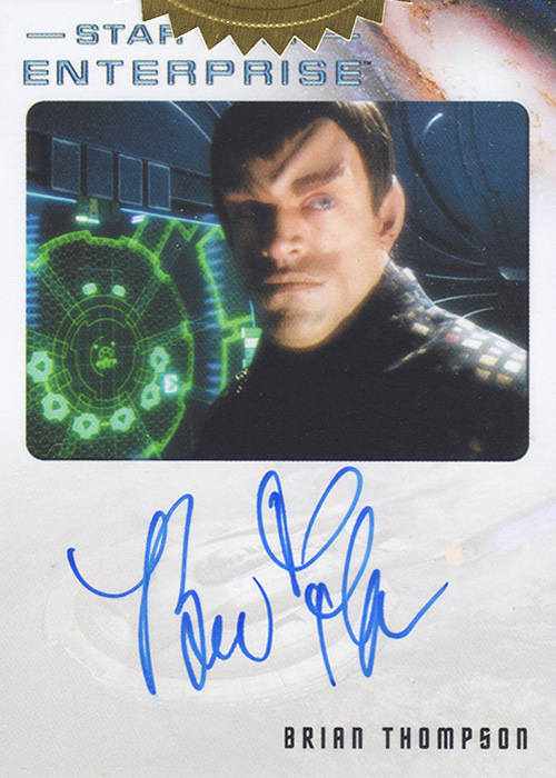Enterprise H&V Brian Thompson Autograph Card