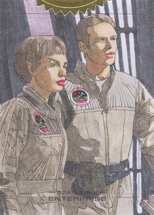 Roy Cover Enterprise H&V Sketch - T'Pol & Tucker