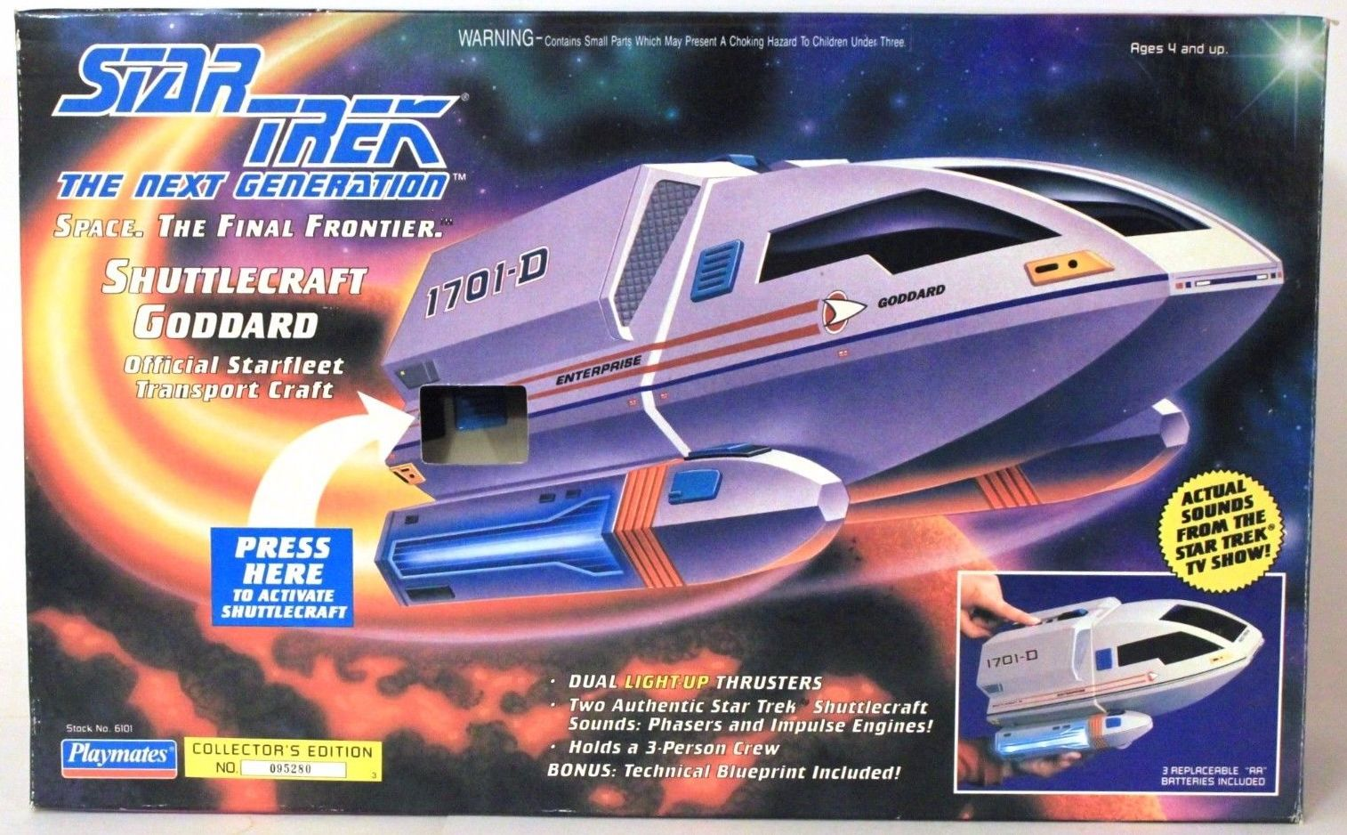Playmates Star Trek Shuttlecraft Goddard