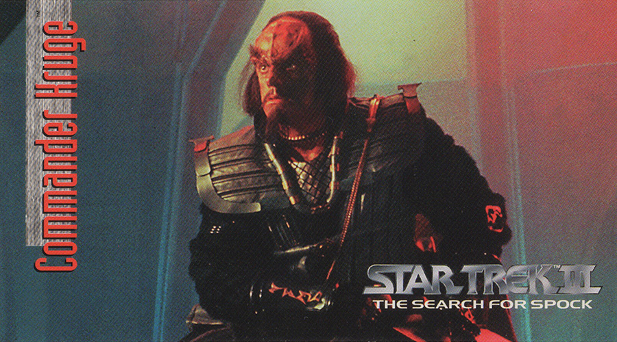 "Commander Kruge from ""Star Trek III: The Search for Spock"""