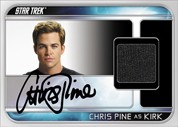 Chris Pine Autograph Relic Card