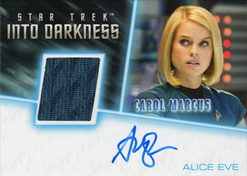 Alice Eve Autograph Relic Card
