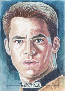 Marcia Dye AR Sketch - James T. Kirk