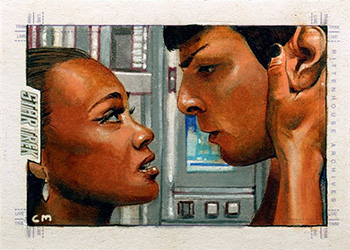 Chris Meeks AR Sketch - Uhura and Spock