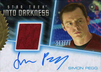 Simon Pegg Autographed Relic Card