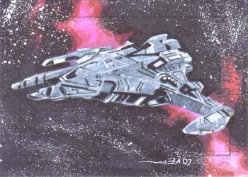 Roy Cover Sketch - Jem'Hadar Battlecruiser