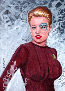 Roy Cover Sketch Return - Seven of Nine 01Sketch - Roy Cover