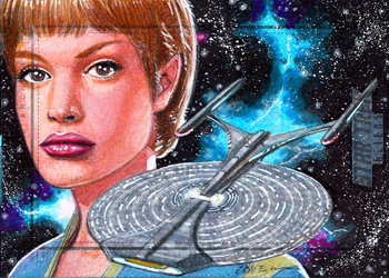 Roy Cover Sketch Return - T'Pol & USS Enterprise 1701-J