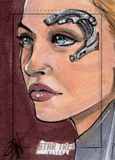 Jessica Hickman Sketch - Seven of Nine