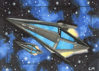 Chris Meeks Sketch - Tholian Ship