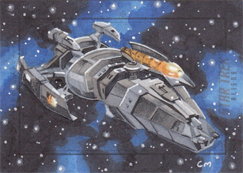 Chris Meeks Sketch - Hirogen Ship